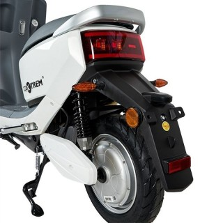 Electric orange scooter with 350W engine and saddle