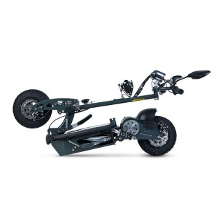 Electric green motorcycle-type scooter with a 350W engine