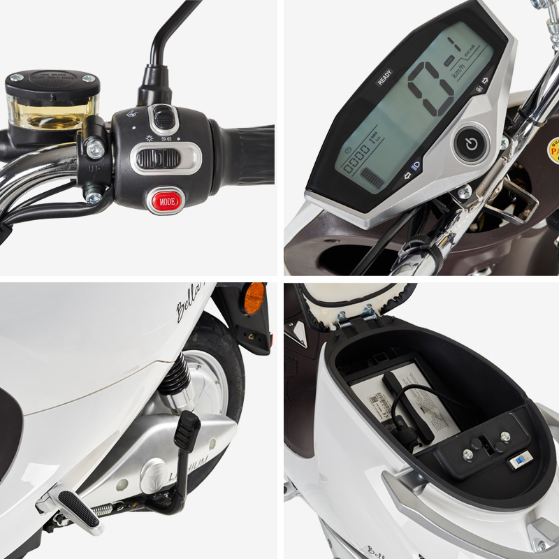 Scooter eléctrico 1200W matriculable, componentes